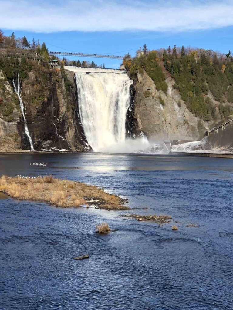 Montmorency Falls on a summer day